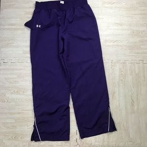 Under Armour Loose Fit Purple Track Pants
